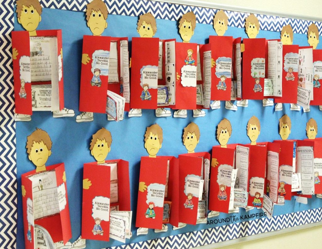 Alexander and the Terrible, Horrible, No Good Very Bad Day reading bulletin board display.