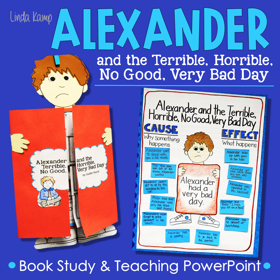 Alexander and the Terrible, Horrible, No Good, Very Bad Day book study for grades 1-3.