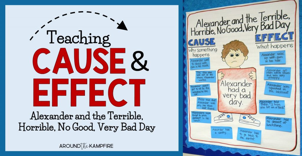 Teaching cause and effect with Alexander and the Terrible, Horrible, No Good, Very Bad Day