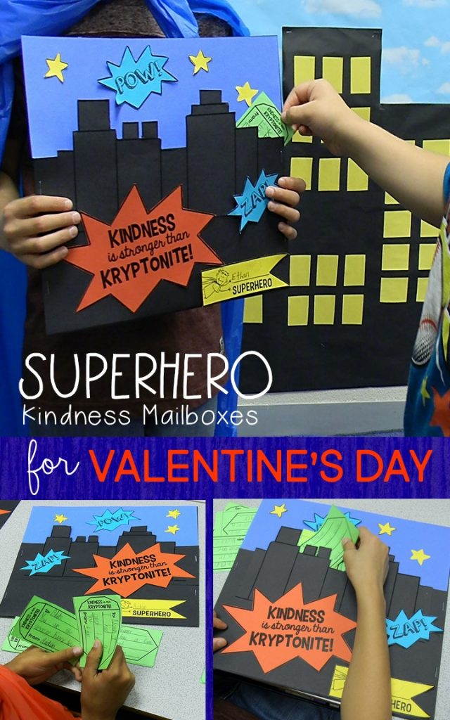 Superhero kindness mailbox and kindness coupons