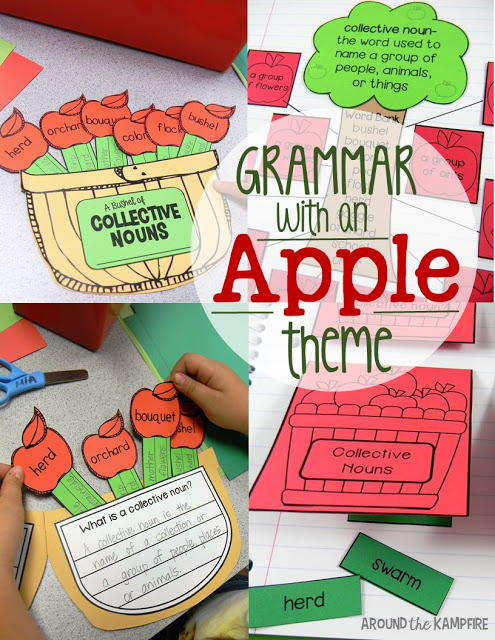 Collective Nouns Apple Activities, Grammar Craft & Interactive Notebook