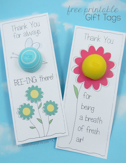 EOS Lip Balm FREE Printable Thank You Tags