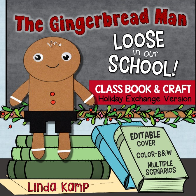 Gingerbread Man Loose in our School Class Book and Craft