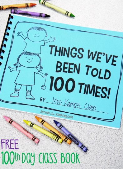 100th Day Writing & A Freebie