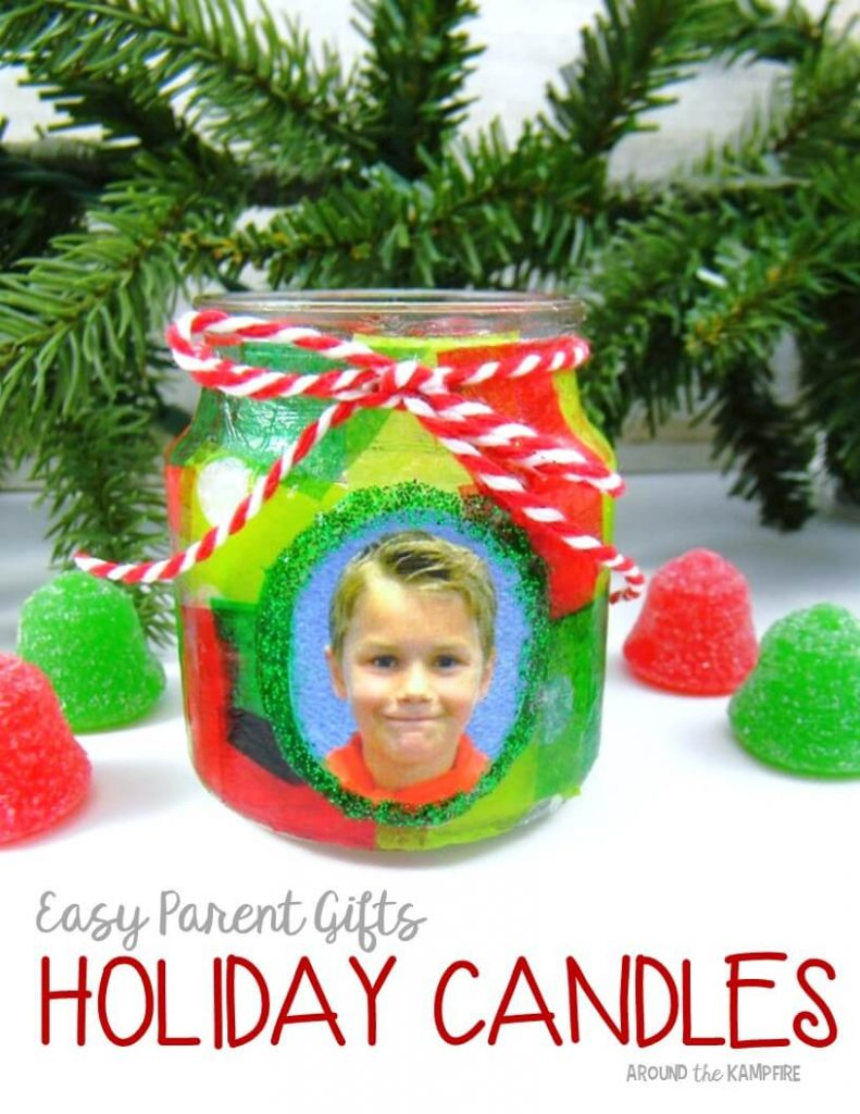 easy parent christmas gift ideas holiday candles with students picture