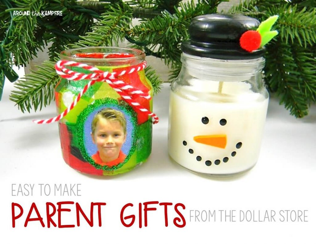 Easy parent Christmas gift ideas with dollar store candles
