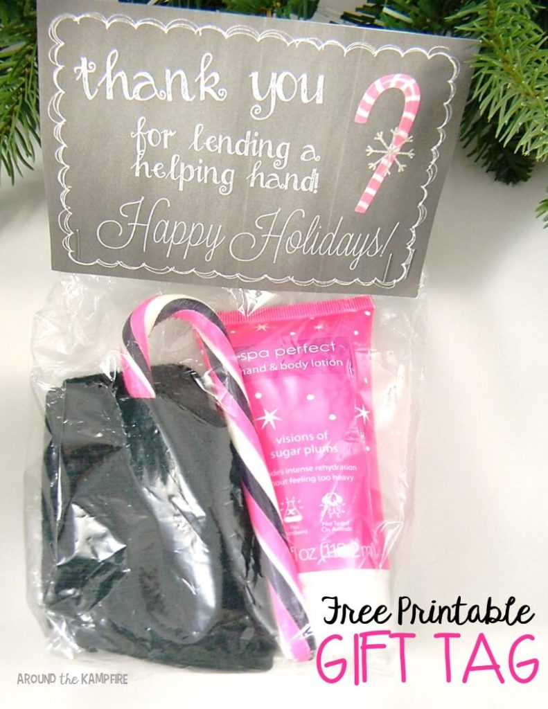 Free printable thank you gift tag for the holidays. Easy parent Christmas gift ideas.