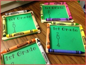 Easy parent Christmas gift ideas-Crayon frame picture ornament from Teach A Roo.