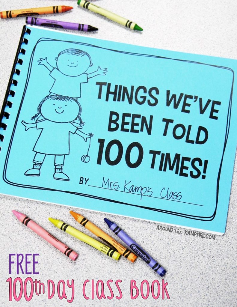 FREE 100th day writing class book- The responses are hilarious!