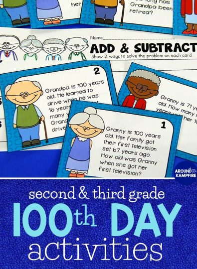 100th day of school activities for second and third grade. Math, reading, and writing ideas for celebrating the 100th day of school!