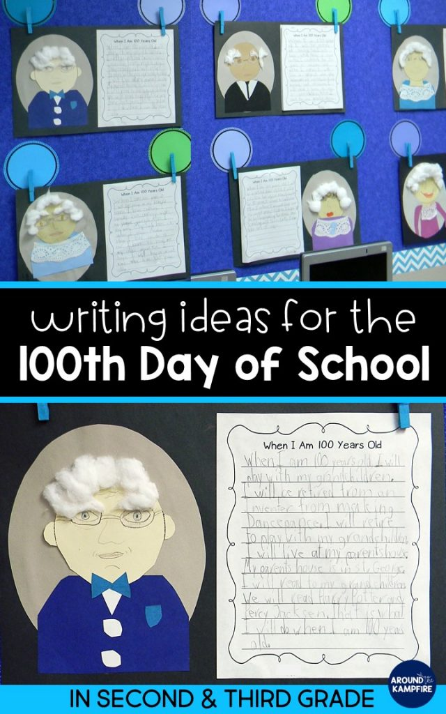 These 100th day writing activities for kids are perfect for 2nd and 3rd grade narrative writing and making self-portraits for the 100th day of school. This post gives second and third grade teachers writing ideas and a free printable Things We've Been Told 100 Times class book. The writing project makes a great bulletin board too!