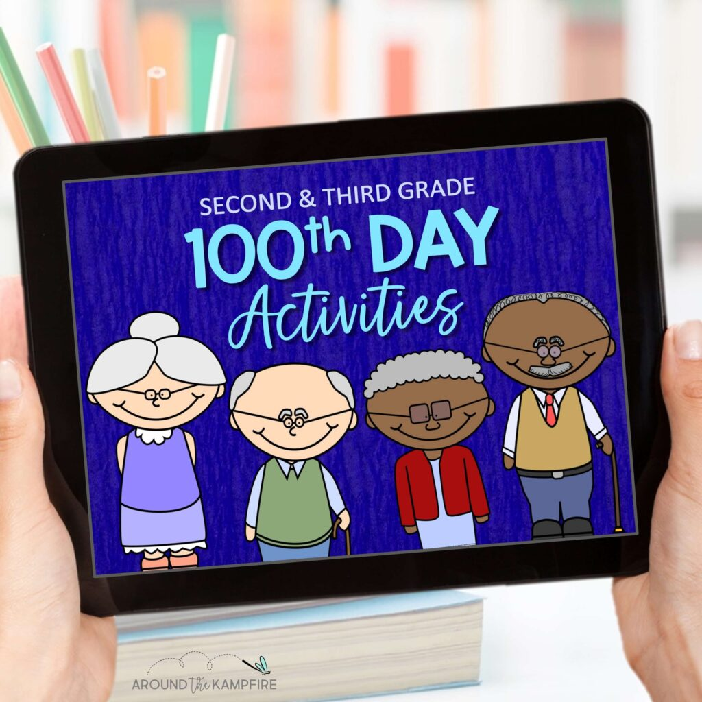 digital 100th day of school activities 2nd grade ebook cover