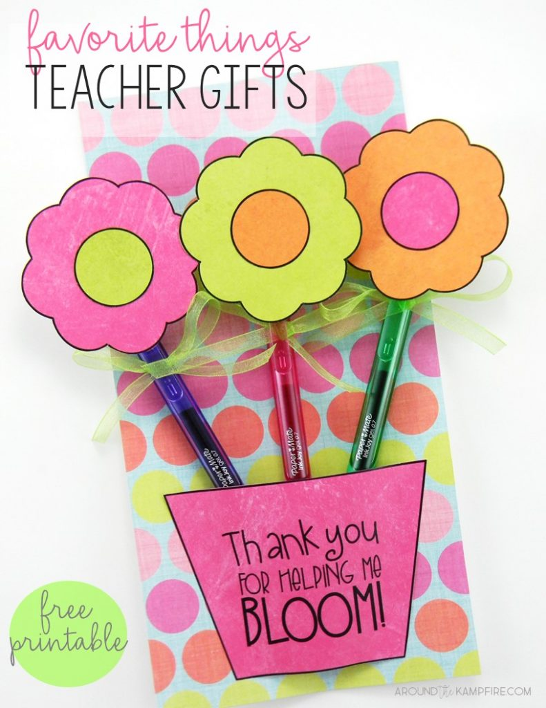 Favorite Things Teacher Gift -Show your favorite teachers how much you appreciate them with this FREE printable teacher gift using InkJoy pens.