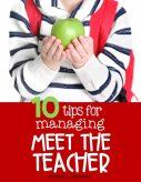 10 Tips For Managing Meet The Teacher