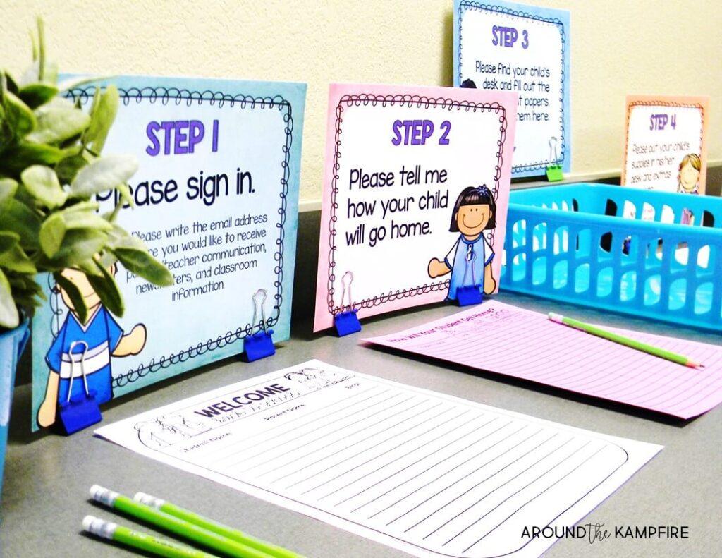 10 tips for managing meet the teacher around the kampfire