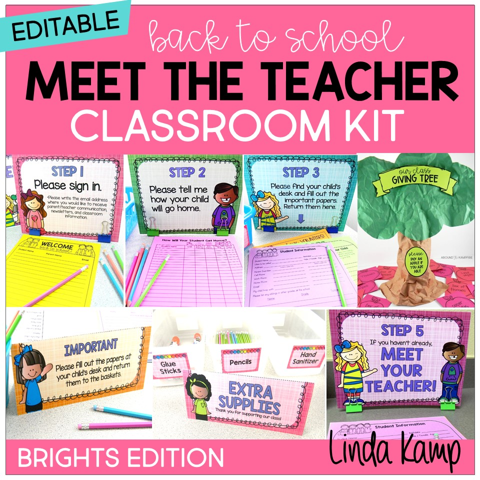 Meet the Teacher open house kit cover