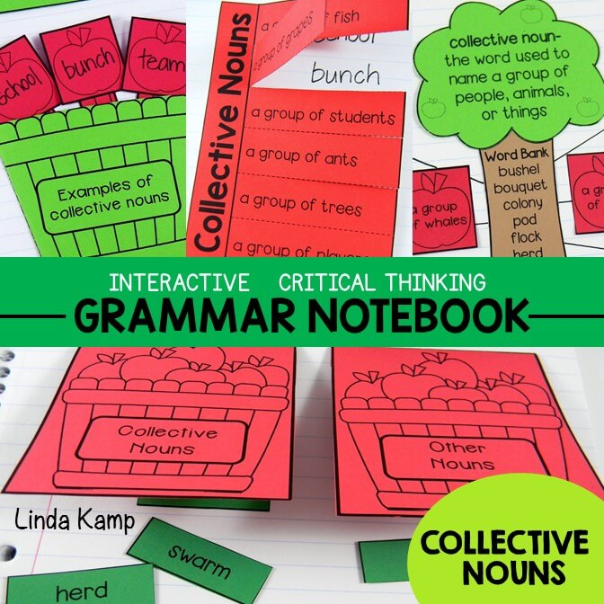Grammar Interactive Notebook Collective Nouns