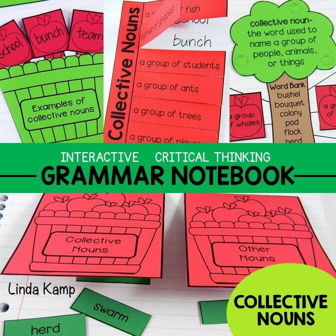 Grammar Interactive Notebook Collective Nouns