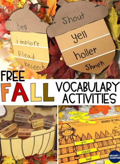 Free Fall Vocabulary Activities
