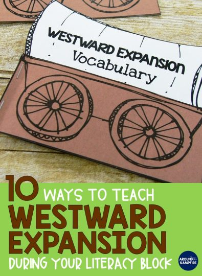 10 Ways to Teach Westward Expansion during your literacy block using social studies content to address literacy standards.2nd, 3rd, and even 4th graders practice reading skills with westward expansion content and activities