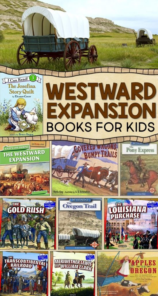 Westward Expansion books for kids. This post also features lots of fun hands-on activities for teaching about westward expansion to 2nd, 3rd, and 4th graders.