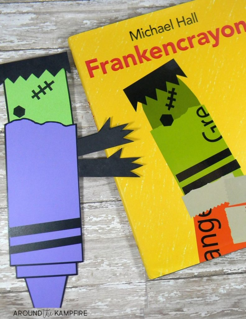Reading and writing color words in Kindergarten and First Grade. See reading and writing activities to help students build their sight word recognition and learn color words in context using the book Frankencrayon by Michael C. Hall.