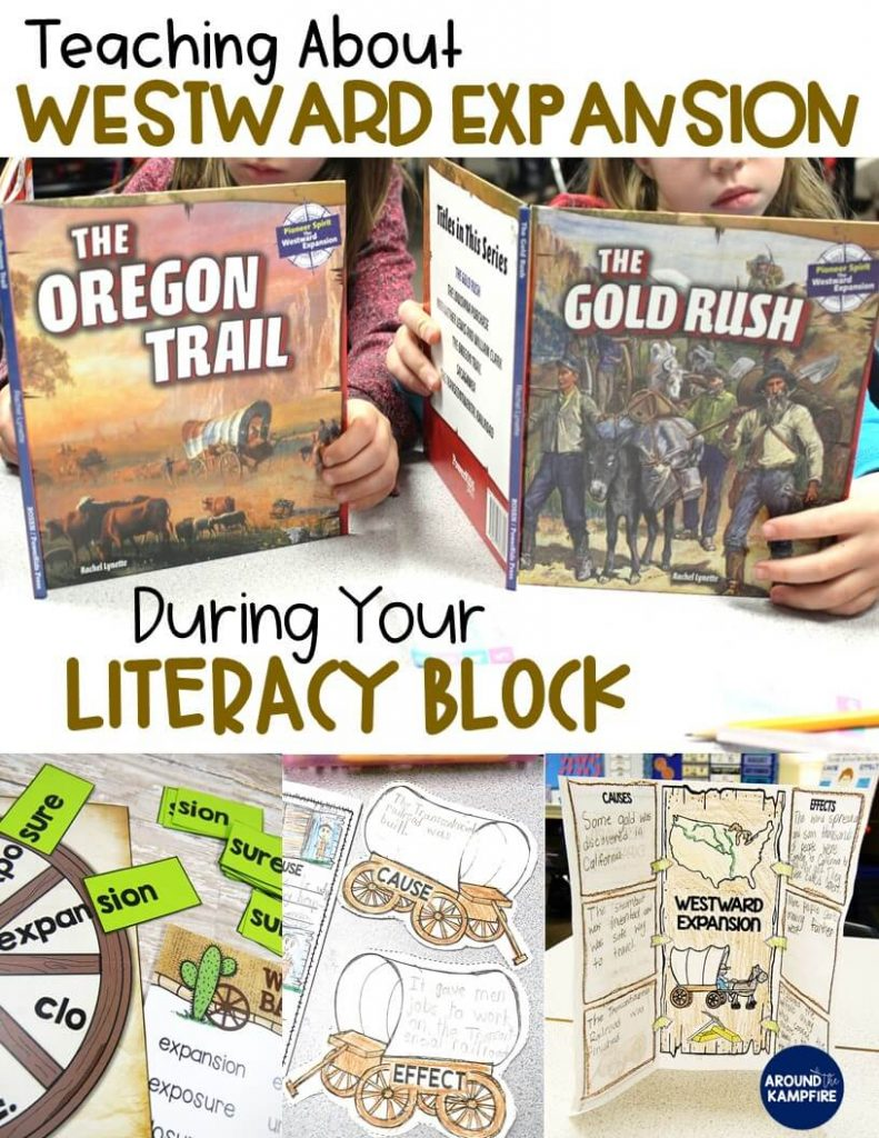Teaching About Westward Expansion During Your Literacy Block-books and activities that use social studies content to teach literacy standards.