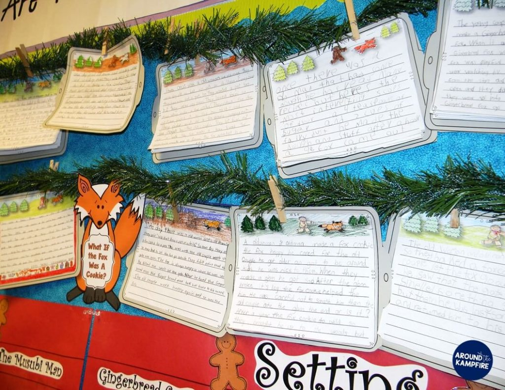 Idea for writing fractured fairy tales by having students rewrite the The Gingerbread Man from the fox's point of view.