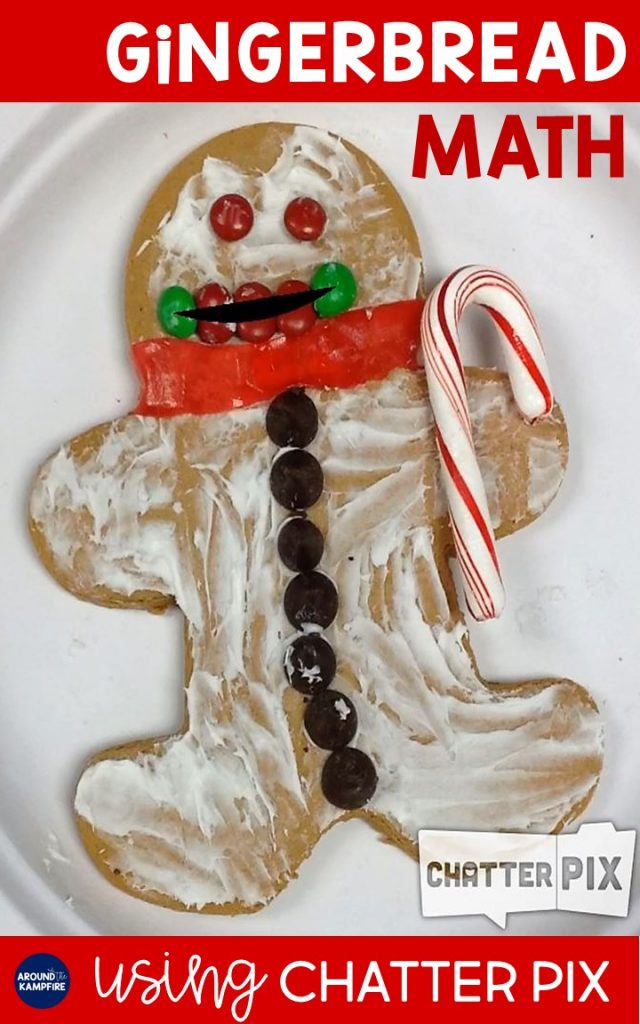 Looking for some gingerbread math ideas to add to your December math or Christmas activities? This one will send your engagement factor soaring! See how we used the ChatterPIX app for 1st and 2nd graders to record themselves explaining the data on their gingerbread man cookie glyphs before taking one bite and graphing. This is such a fun and high engagement December math activity for first and second grade!