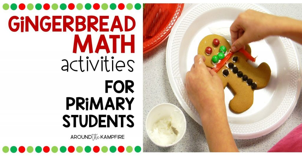 gingerbread math activities for primary students-Data and graphing activities for first and second grade.