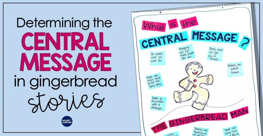 Teaching central message to 1st, 2nd, and even 3rd graders can be tricky. Using a familiar story like The Gingerbread Man along with the steps and guiding questions in this post can help students understand and determine the central message, big idea, lesson, or moral in a text. These teaching ideas and anchor chart are an ideal addition to your gingerbread man unit and activities!