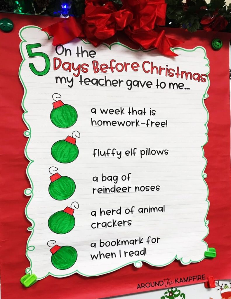 5 simple ideas and activities with several free downloads to help first second - When Is Christmas Break