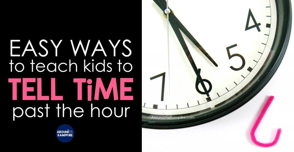 Teaching kids to tell time past the hour can be challenging but it doesn't have to be a struggle for you or your students. Learn simple ways you can make telling time so much easier for your 1st, 2nd, and 3rd graders that make telling time more concrete and fun! These teaching ideas and FREE telling time games and activities are ideal for teachers and homeschool parents of first, second and third graders.