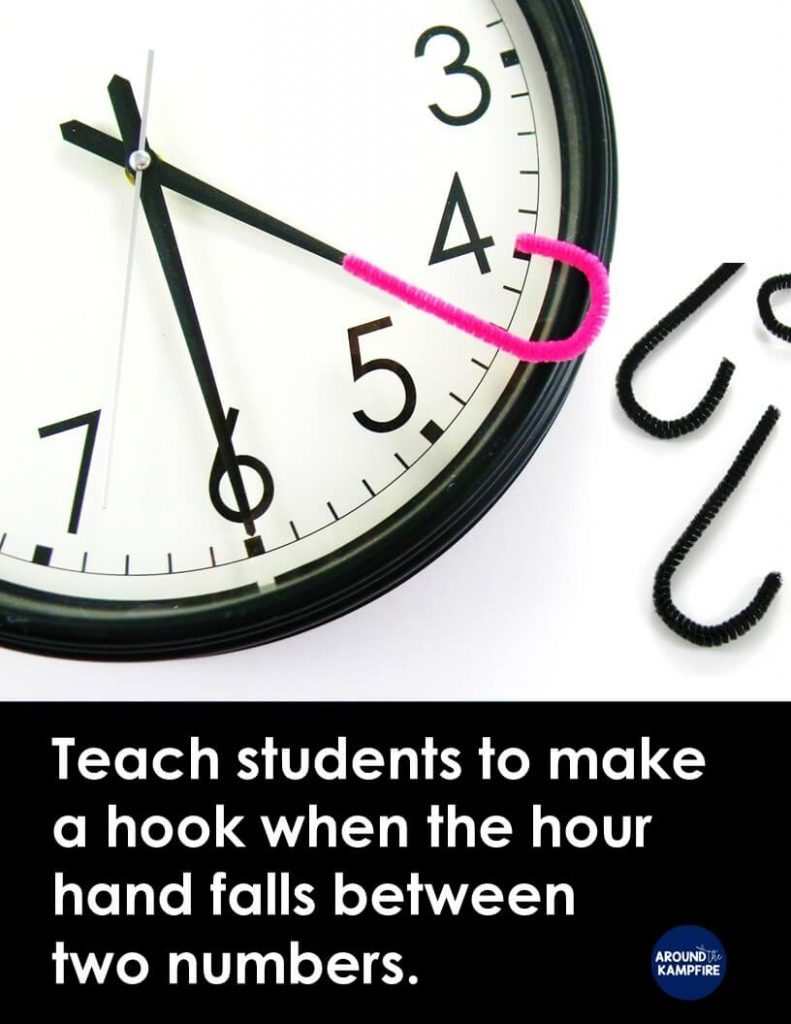 Teaching kids to tell time past the hour - Around the Kampfire