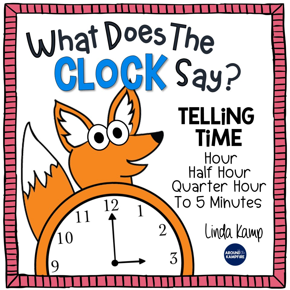 Telling time activities for 1st and 2nd grade-What does the clock say?