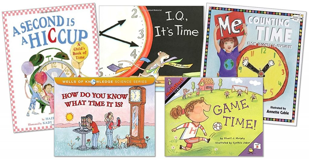 Books that teach telling time for first and second grade.