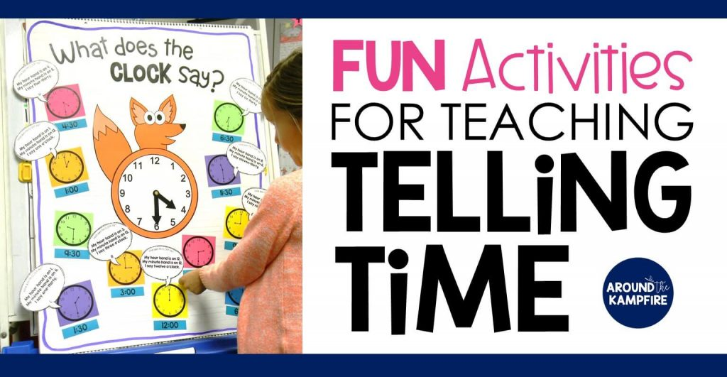 Fun activities that teach telling time to first, second, and even third graders. These hands-on activities make what can sometimes be a daunting task easy and fun! Students read and write the time with high engagement games and lessons centered around a popular song and telling time anchor chart. Ideal for teaching 1st, 2nd, and 3rd graders to tell time to the hour/half hour, quarter hour and to the minute. This post also includes a FREE telling time game for kids!