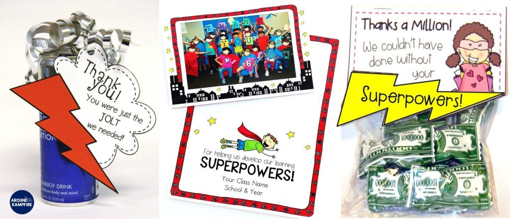 10 Fun Things To Do The Last Week of School with a Superhero Theme-End of the year activities and ideas to make the last week of school meaningful, memorable, and FUN! Class thank you gifts for parent volunteers and school staff.