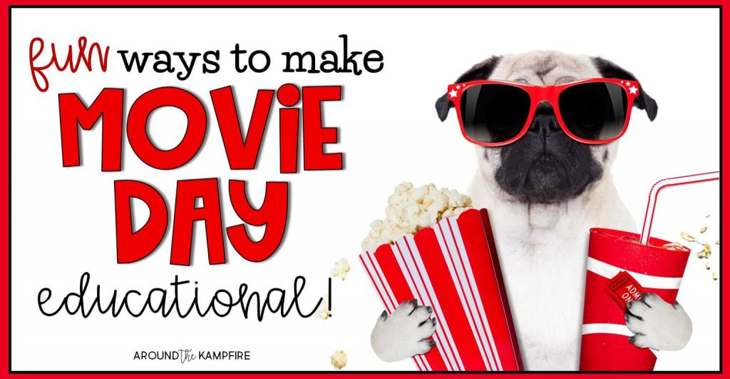 Classroom movie day ideas for first, second, and third grade kids that are both fun and educational. Your students will love the FREE movie day math and reading menus in this post as they use the movie they are watching to review important skills. The movie related activities are ideal for 1st, 2nd, and 3rd grade teachers to keep students engaged and still learning long after the movie is over!