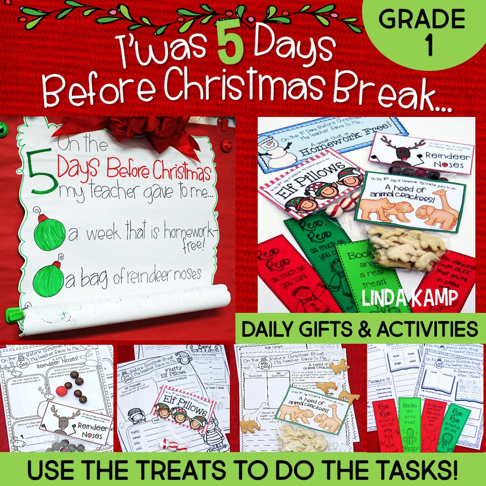 Christmas Break Countdown Grade 1