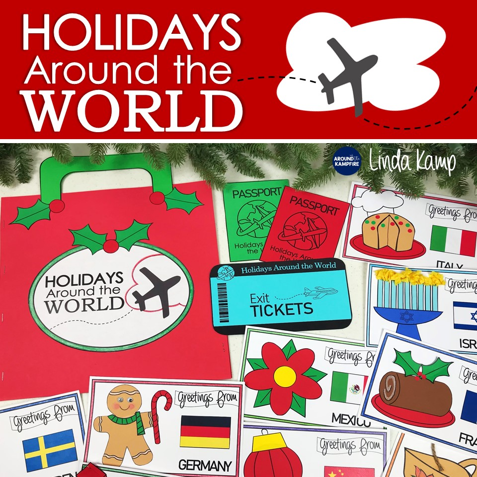 Holidays Around the World Christmas activities-A comprehensive unit for grades 2-4.