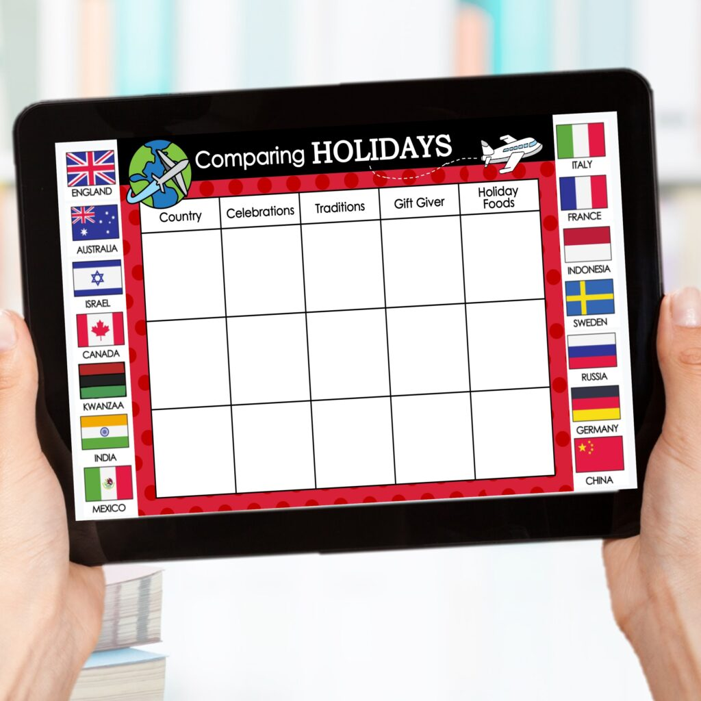 digital holidays around the world activities comparing traditions