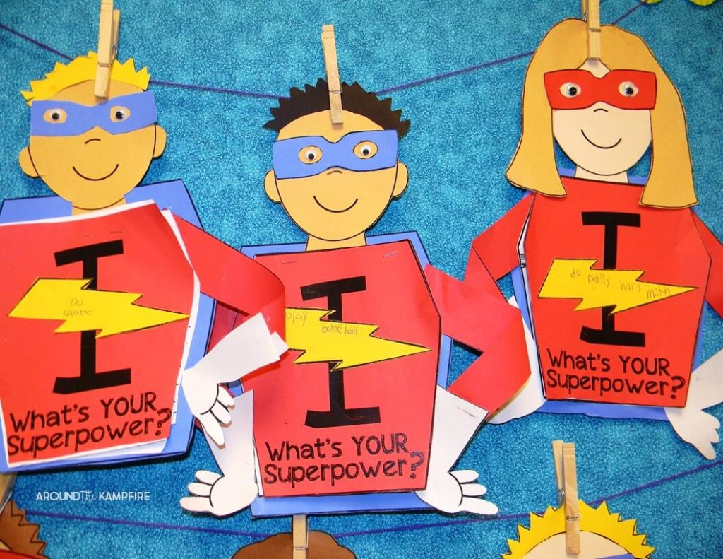 Getting students back on track after a break-Setting new learning goals is a great way to refocus your students after Fall, Spring, or Winter break. My 2nd graders make this superhero goal setting craft and we display them in our classroom to revisit at the end of the year. These would be perfect for 1st and 3rd grade students too.