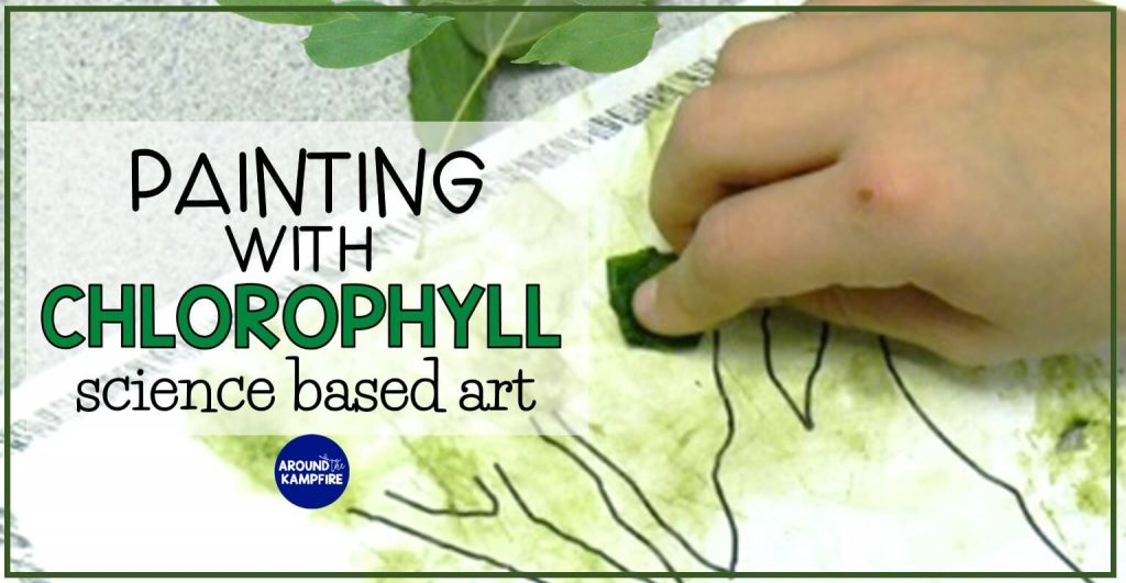 Painting with chlorophyll- A fun, science based art activity for kids while learning about photosynthesis and the life cycle of plants.