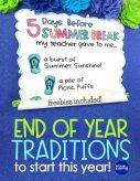 Summer break countdown anchor chart