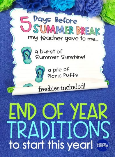 Summer break countdown anchor chart