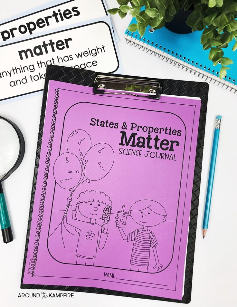 Properties of matter activities and experiments for 2nd grade. Learn creative teaching ideas and fun, hands-on science activities for kids learning about solids, liquids, and gas in second grade. #propertiesofmatteractivities #2ndgradescience