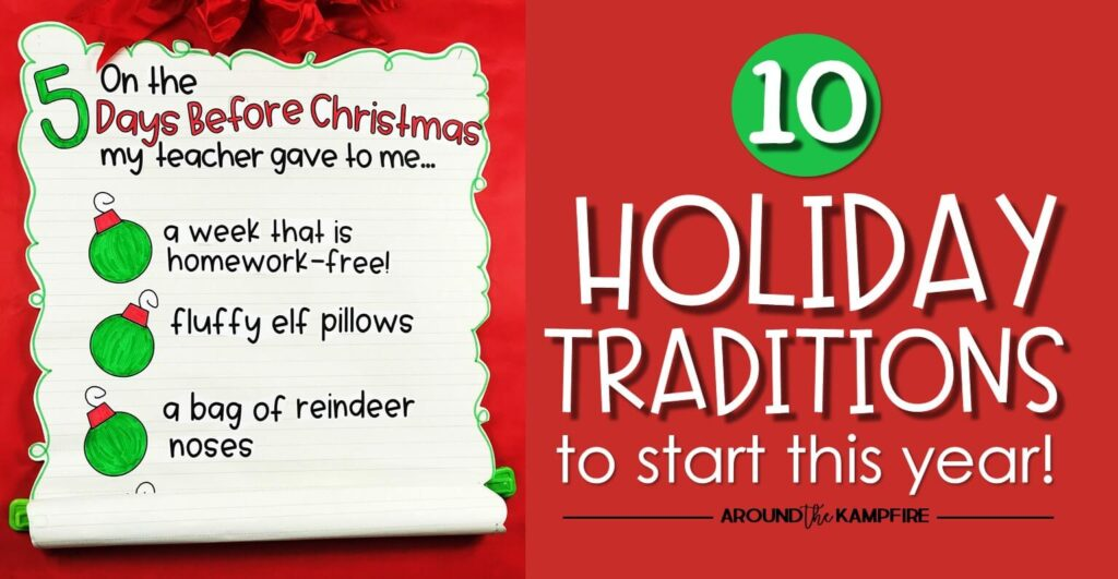 10 Holiday classroom traditions to start this year-Find high engagement holiday activities for elementary students that keep everybody engaged, still learning, AND having fun! These Christmas activities quickly become favorite traditions in your classroom!