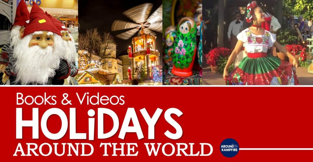 Christmas holidays around the world books videos for kids