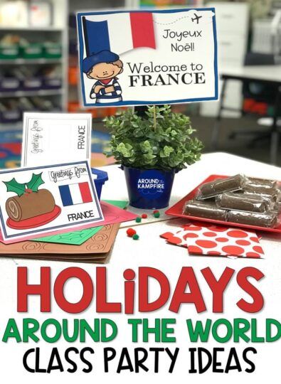 christmas holidays around world classroom party ideas
